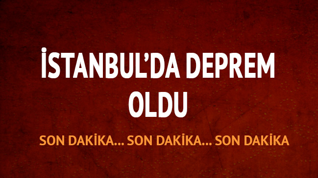İstanbul'da deprem oldu - 1