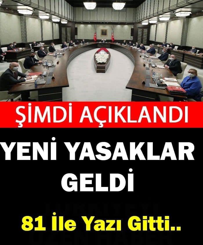 YENİ YASAKLAR GELDİ - 1
