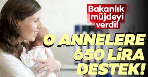 Bakanlık müjdeyi verdi O annelere 650 lira destek
