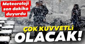 Meteoroloji'den kar yağışı ve İstanbul hava durumu uyarısı