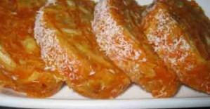 Hindistan Cevizli Rulo Havuç Pastası
