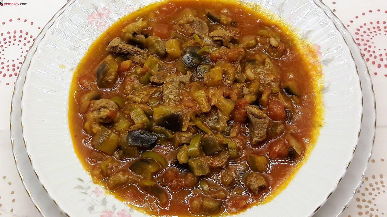 Etli Patlıcan Yemeği Tarifi - 3