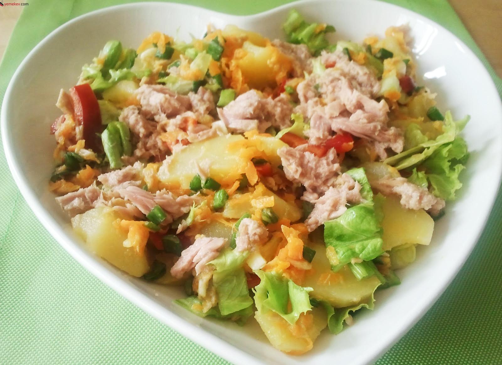 Ton Balıklı Patates Salatası Tarifi - 1