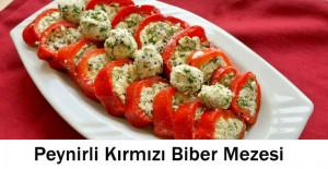Peynirli Kırmızı Biber Mezesi Tarifi