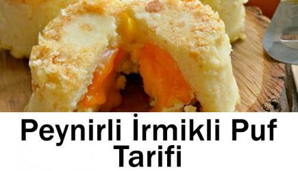 Peynirli İrmikli Puf Tarifi