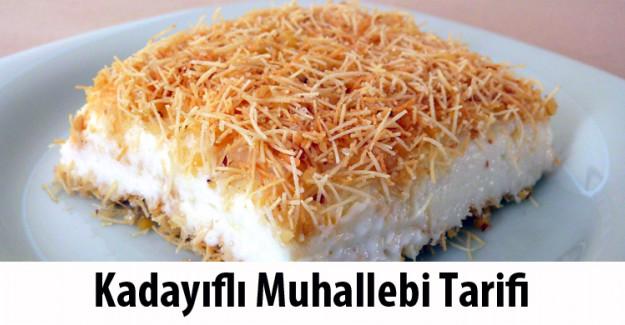 Kadayıflı Muhallebi Tarifi