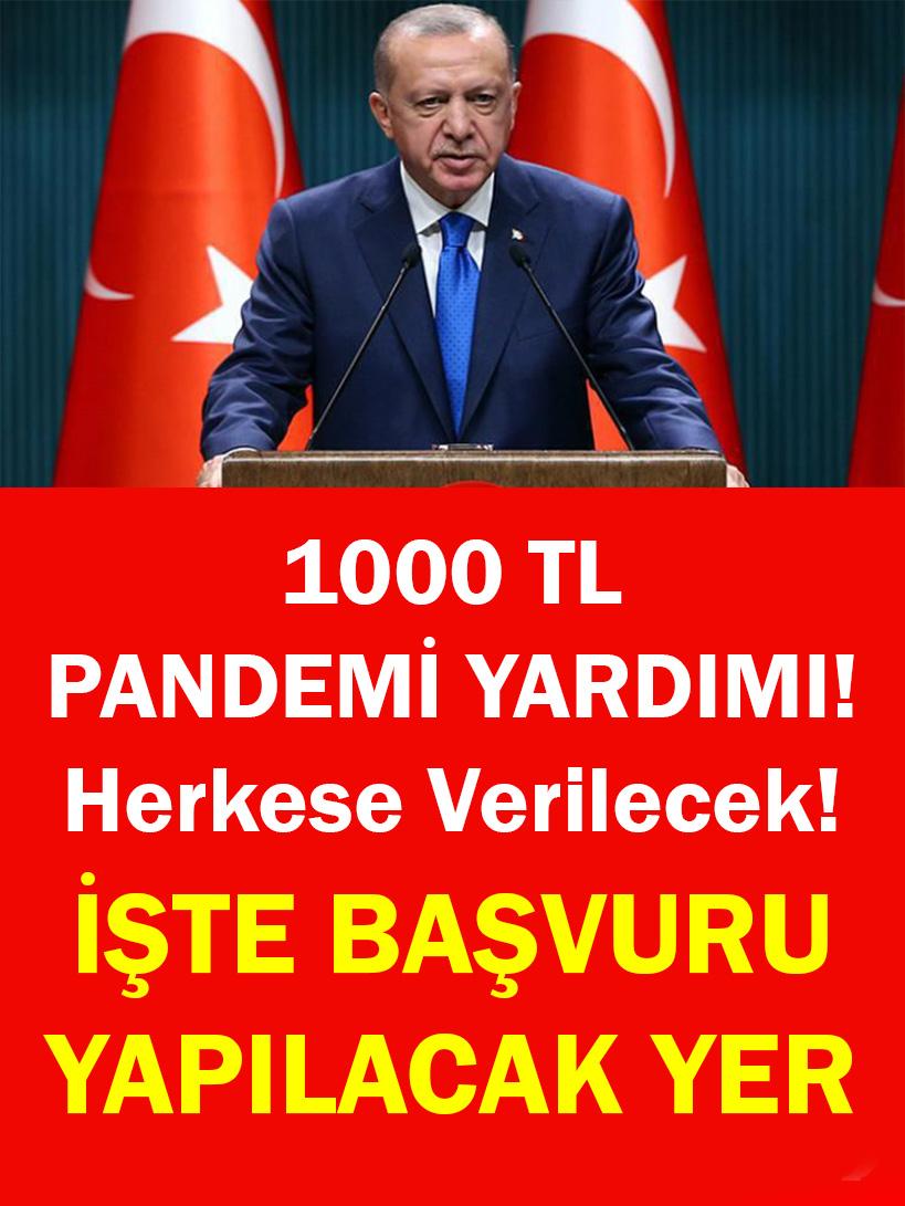 1000 TL PANDEMİ YARDIMI - 1