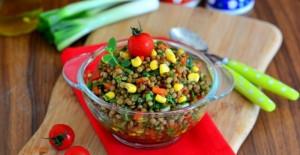 Yeşil Mercimekli Etimek Salatası Tarifi