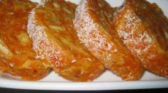 Hindistan Cevizli Rulo Havuç Pastası - 1