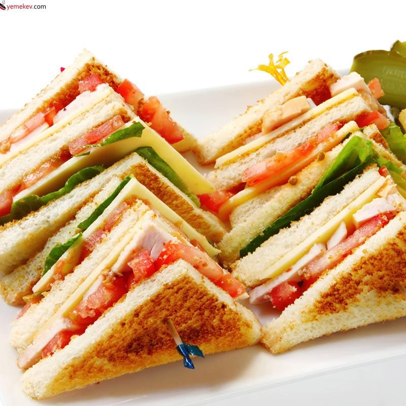 Kulüp Sandviç (Club Sandwich) Tarifi - 1
